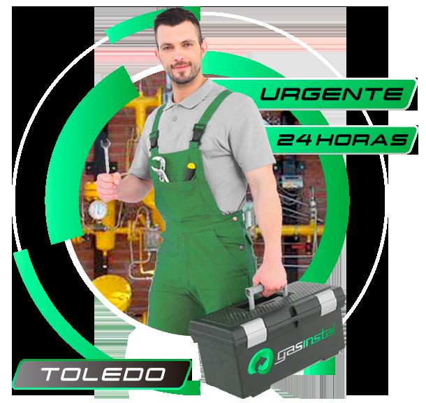 Reparación de instalación de gas natural en Toledo