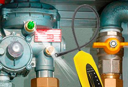 reparación fugas regulador gas natural